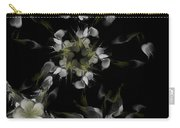 Fractal Floral Pattern Black Carry-all Pouch