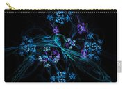 Fractal Forget Me Not Bouquet  Carry-all Pouch