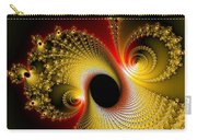 Fractal Spiral Art Yellow Red Metal Effect Carry-all Pouch