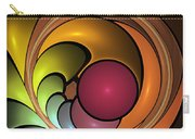 Fractal With Orange, Yellow And Red Carry-all Pouch