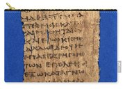 Fragment Of Hippocratic Oath, 3rd Carry-all Pouch