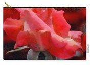 Fragmented Pink Rose Carry-all Pouch