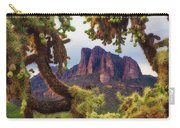 Framed By Cholla Carry-all Pouch