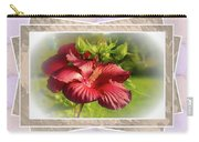 Framed Red Hibiscus Carry-all Pouch