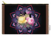 Framed Rose Bouquet Montage Carry-all Pouch