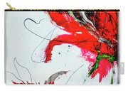 Framed Scribbles And Splatters On Canvas Wrap Carry-all Pouch