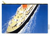 France Cruise Vintage Travel Poster Restored Carry-all Pouch