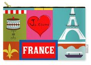 France Vertical Scene - Collage Carry-all Pouch