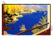 France Vintage Travel Poster Restored Carry-all Pouch