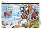 Francis Drake And The Golden Hind Carry-all Pouch by Ron Embleton