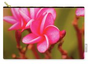 Pink Frangipani Plumeria Flowers Carry-all Pouch