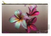 Frangipani With Overlay Carry-all Pouch