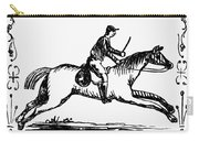 Franklin: Post Rider, 1775 Carry-all Pouch