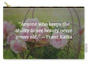 Franz Kafka Quote Carry-all Pouch