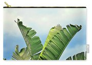 Frayed Palm Fronds Against Blue Sky Carry-all Pouch