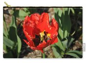 Frayed Tulip Carry-all Pouch