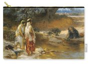 Frederick Arthur Bridgman 1847   1928 American At The Water S Edge Carry-all Pouch