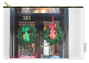 Fredricksburg Door Decorated For Christmas Carry-all Pouch