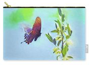 Free To Fly - Butterfly In Flight Carry-all Pouch