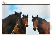 Free Wild Horses On The Mountain Carry-all Pouch
