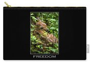 Freedom Inspirational Motivational Poster Art Carry-all Pouch by Christina Rollo