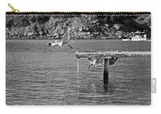 Freedom Is A Seagull Name Black And White Carry-all Pouch