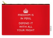 Freedom Is In Peril -- Ww2 Propaganda  Carry-all Pouch