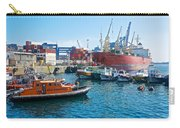 Freighter And Shipping Containers In Port Of Valpaparaiso-chile Carry-all Pouch