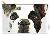 French Bulldog Art - High Contrast Carry-all Pouch