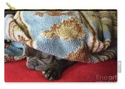 French Bulldog Naps Under A Blanket-1 Carry-all Pouch