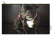 French Bulldog On The Couch Carry-all Pouch