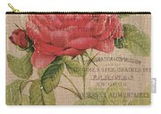 French Burlap Floral 1 Carry-all Pouch by Debbie DeWitt