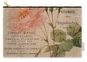 French Burlap Floral 4 Carry-all Pouch