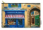 French Cheese Shop Carry-all Pouch by Marilyn Dunlap