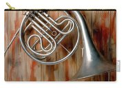 French Horn Hanging On Wall Carry-all Pouch