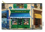 French Pastry Shop Carry-all Pouch by Marilyn Dunlap