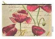 French Pink Poppies Carry-all Pouch