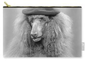 French Poodle Wearing Beret, C.1970s Carry-all Pouch