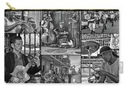 French Quarter Musicians Collage Bw Carry-all Pouch