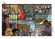 French Quarter Musicians Collage Carry-all Pouch
