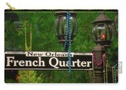 French Quarter Sign Carry-all Pouch