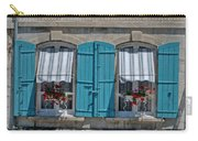 Shuttered Windows And Flowers Carry-all Pouch