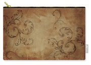 French Scrolls Carry-all Pouch by Jocelyn Friis
