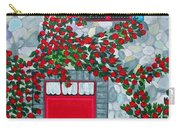French Stone House And Rose Trellis Carry-all Pouch