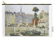 French View Of Honfleur Carry-all Pouch