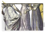 French Womens Fashion, 1808-09 Carry-all Pouch