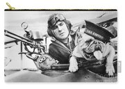 French World War Two Postcard Celebrating The British Bulldog As A Mascot For The Royal Air Force Carry-all Pouch