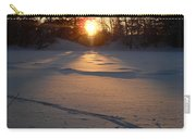 Fresh Deer Tracks At Sunrise Carry-all Pouch