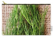 Fresh Green Dill On Jute Bag Carry-all Pouch