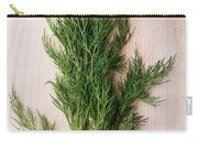 Fresh Green Dill On Wooden Plank Carry-all Pouch